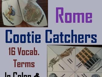 Ancient Rome Cootie Catchers
