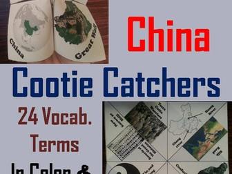 Ancient China Cootie Catchers