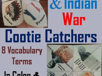 French and Indian War Cootie Catchers