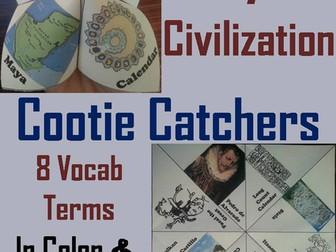 Maya Civilization Cootie Catchers