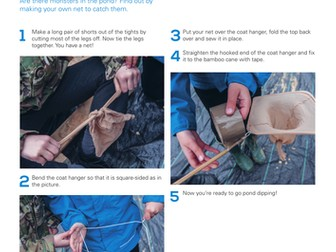 Wildlife Detective: make a pond dipping net