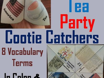 Boston Tea Party Cootie Catchers