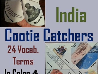 Ancient India Cootie Catchers