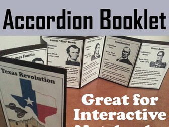 Texas Revolution Accordion Booklet