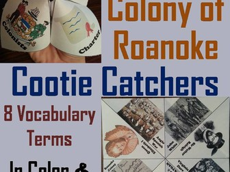 Lost Colony of Roanoke Cootie Catchers