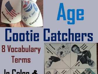 Gilded Age Cootie Catchers