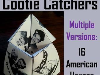 American Heroes Cootie Catchers