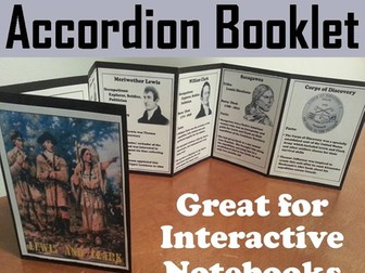 Lewis and Clark Accordion Booklet