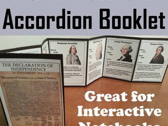 Declaration of Independence Accordion Booklet