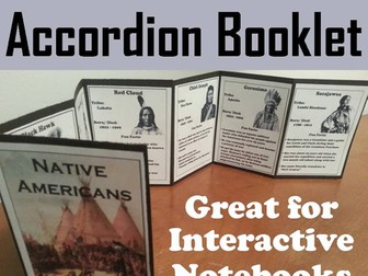 Native Americans Accordion Booklet
