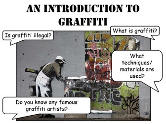 Graffiti Art- Creative Activities and Street Art Discussions