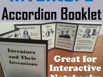 Inventors Accordion Booklet