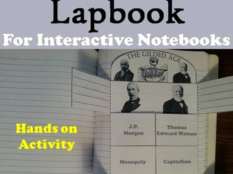 Gilded Age Lapbook