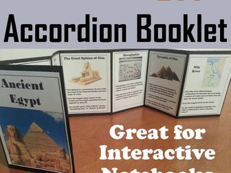 Ancient Egypt Accordion Booklet
