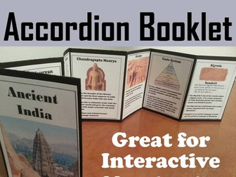 Ancient India Accordion Booklet