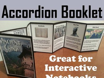 Ancient China Accordion Booklet
