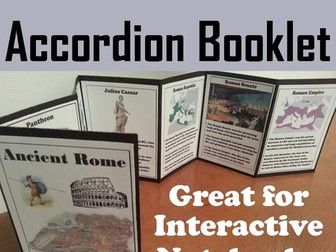 Ancient Rome Accordion Booklet