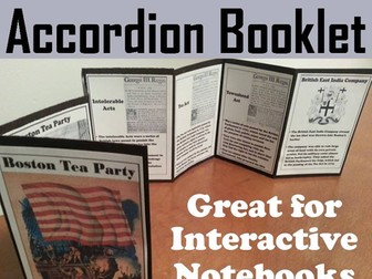 Boston Tea Party Accordion Booklet