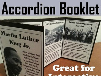 Martin Luther King Accordion Booklet