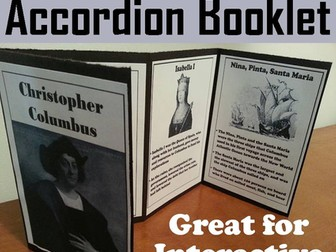 Christopher Columbus Accordion Booklet
