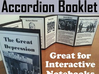 Great Depression Accordion Booklet