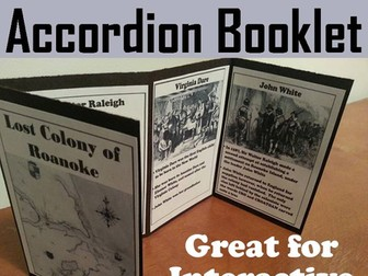 Lost Colony of Roanoke Accordion Booklet