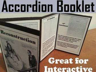 Reconstruction Accordion Booklet