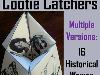 Women's History Cootie Catchers