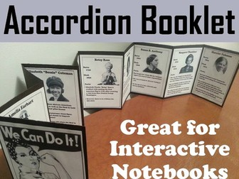 Women's History Accordion Booklet