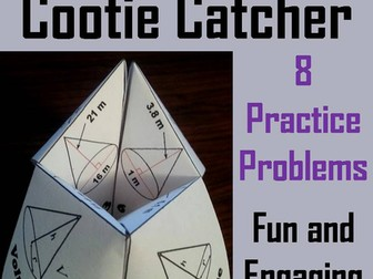 Volume of Cones Cootie Catchers