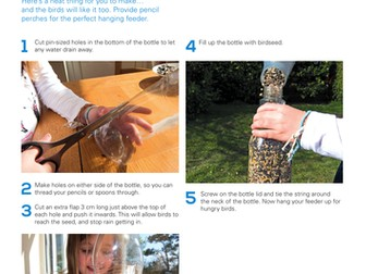 Food and Drink: Make a bottle bird feeder