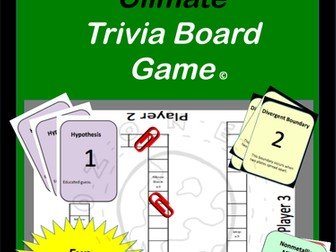 Weather and Climate Trivia Board Game
