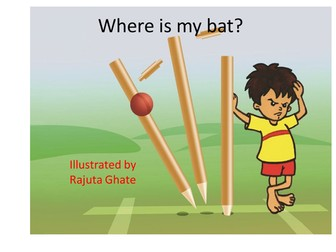Wordless Story Writing Pack - Where Is My Bat? A Funny Story! Good for prepositions
