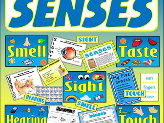 SENSES TEACHING RESOURCES EYFS KEY STAGE 1-2 SIGHT HEARING TOUCH TASTE SMELL