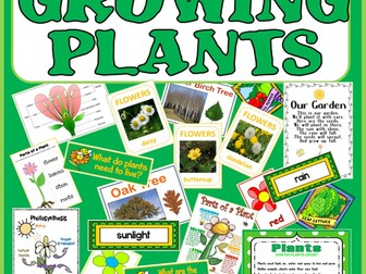 GROWING PLANTS SCIENCE TEACHING RESOURCES EARLY YEARS KEY STAGE 1-2 FLOWERS TREES SCIENCE
