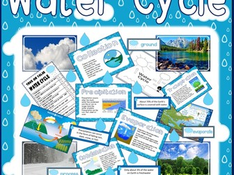 WATER CYCLE TEACHING RESOURCES KS1-2 SCIENCE OCEANS DISPLAY processes