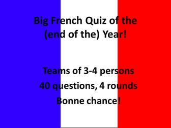 Big French Quiz of the Year