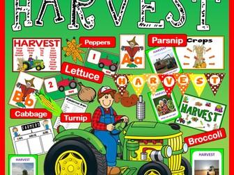 HARVEST FESTIVAL AND FARM SHOP ROLE PLAY  SCIENCE FOOD EYFS KS1-2 SEASON