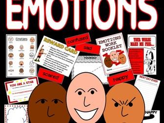 EMOTIONS FEELINGS TEACHING RESOURCES KS1, KS2, KS3 BEHAVIOUR DISPLAY ANGER etc