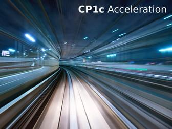 Edexcel CP1c Acceleration