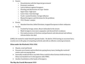 IGCSE Edexcel history - China