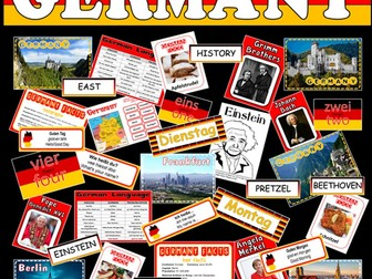 GERMANY TEACHING RESOURCES -GEOGRAPHY MAPS GERMAN LANGUAGE CULTURE COUNTRY HISTORY