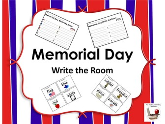 Memorial Day Write the Room