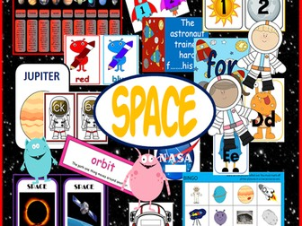 SPACE TOPIC TEACHING RESOURCES and ROLEPLAY SET KS1 EYFS, UNDERSTANDING WORLD