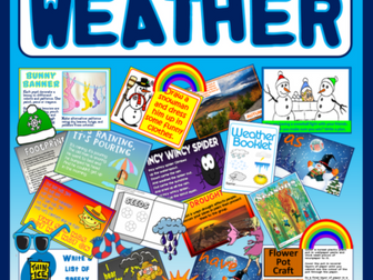 WEATHER TOPIC TEACHING RESOURCES DISPLAY ACTIVITIES SEASONS SCIENCE WINTER SUMMER SPRING AUTUMN