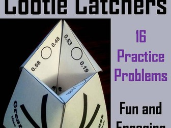 Comparing Decimals Cootie Catchers