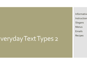 Everyday Text Types - How to (2)
