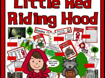 LITTLE RED RIDING HOOD STORY TEACHING RESOURCES EYFS KS1 FAIRYTALE ROLE PLAY