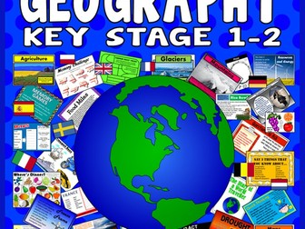 Geography bundle activities key word display continents and 100 key stage 1 2 geography activities games starters teaching resources gumiabroncs Image collections