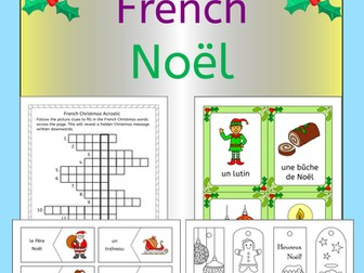 French Christmas - Noel - fun activities, worksheets, wordwall bingo, cards
